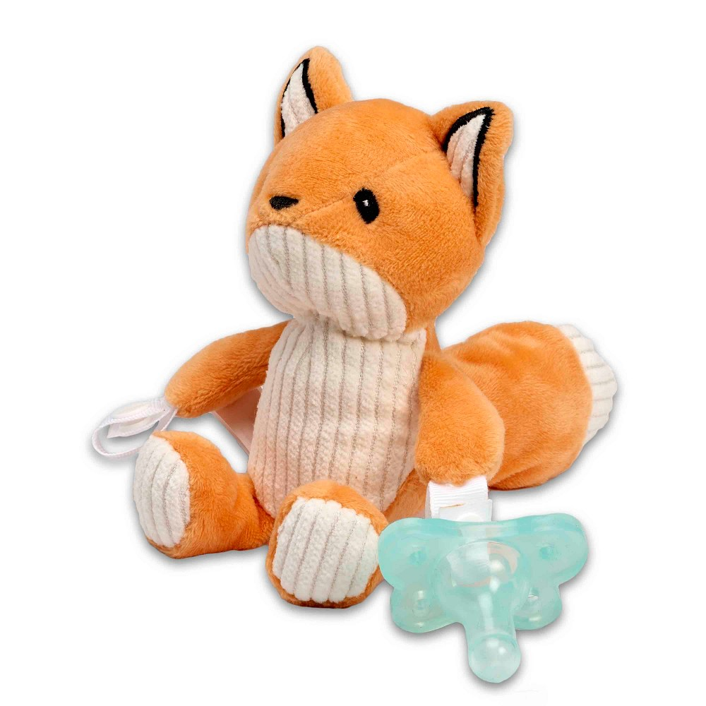 Dr. Brown's Franny the Fox Lovey Pacifier & Teether Holder, Orange