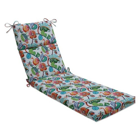 """72.5"""" x 21"""" Outdoor/Indoor Chaise Lounge Cushion Tropical Fete Green - Pillow Perfect - image 1 of 1"""