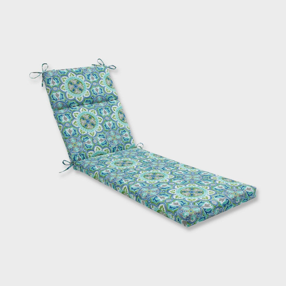 Lagoa Tile Chaise Lounge Outdoor Cushion Blue - Pillow Perfect