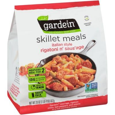 Gardein Vegan  Italian Style Rigatoni n' Saus'age Frozen Skillet Meal - 20oz