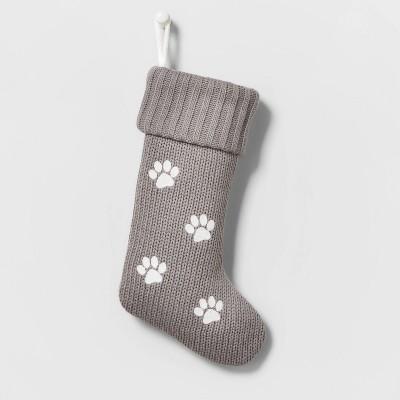 Knit Christmas Stocking Paw Print - Wondershop™