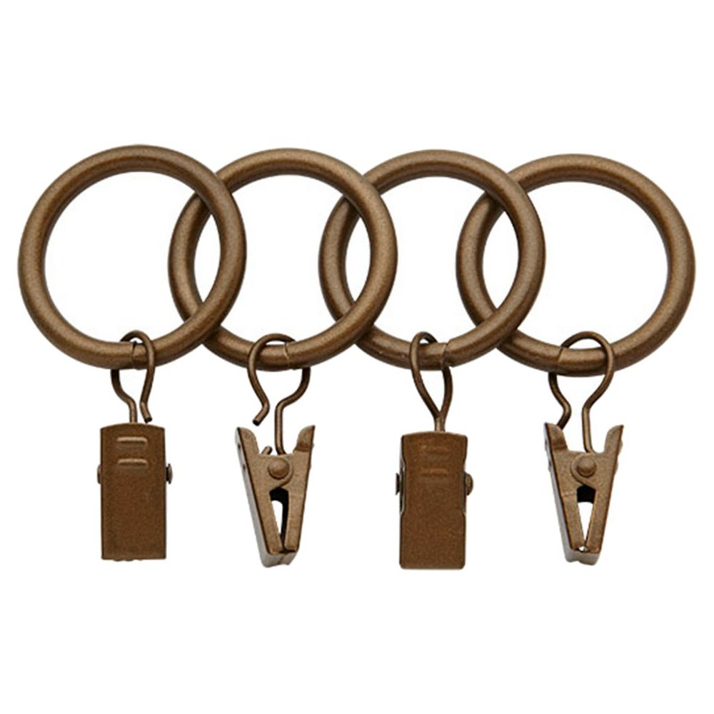 Image of Bali 1 Curtain Rings - Golden Brass