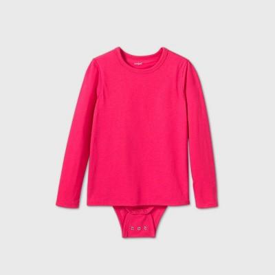 Girls' Adaptive Long Sleeve Adjustable Bodysuit - Cat & Jack™ Pink