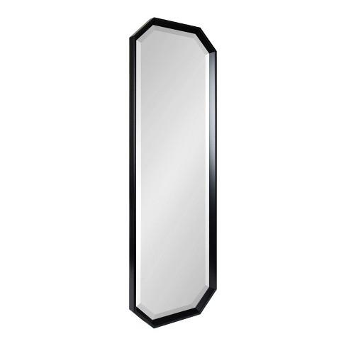 "17.5"" x 49.5"" Calder Full Length Wall Mirror Black - Kate & Laurel All Things Decor - image 1 of 4"