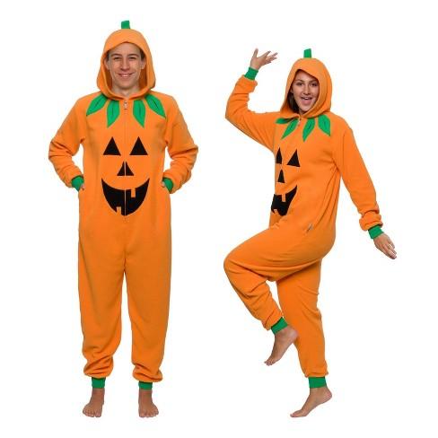 Funziez! Halloween Jack O Lantern Pumpkin Adult Unisex Novelty Union Suit - image 1 of 4