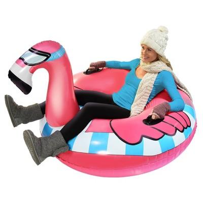 GoFloats Flamingo Snow Tube
