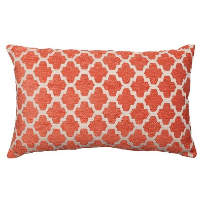 Orange Throw Pillow Perfect Keaton Santa Fe Floor Throw Pillow (18.5 x11.5 )- Pillow Perfect