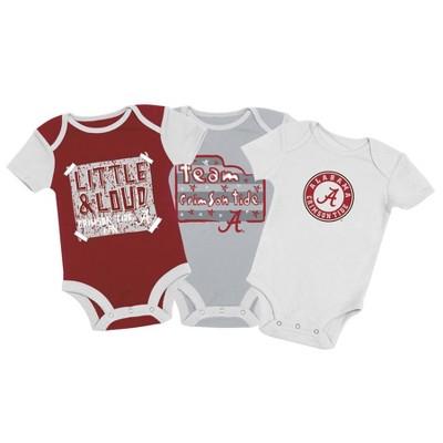 NCAA Alabama Crimson Tide Baby Boys' 3pc Bodysuit Set - 3-6M