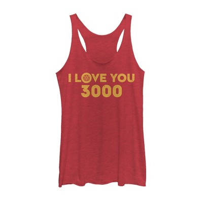 Women's Marvel I Love You 3000 Arc Reactor Racerback Tank Top