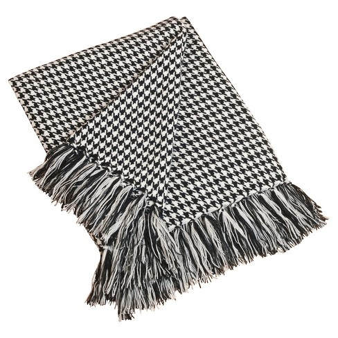 """Black Houndstooth Throw (50""""X60"""") - image 1 of 1"""