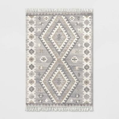 Sedwick Geometric Medallion Hand Tufted Wool Rug Cream - Threshold™