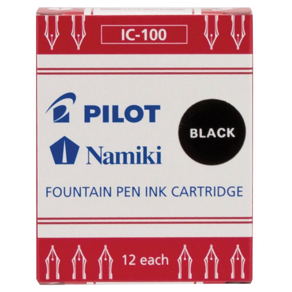 Pilot Namiki Fountain Pen Ink Cartridge 12ct Black
