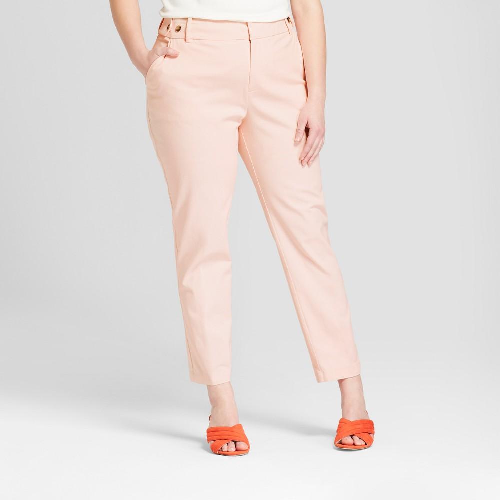 Women's Plus Size Boyfriend Chino Pants - Ava & Viv Blush 24W