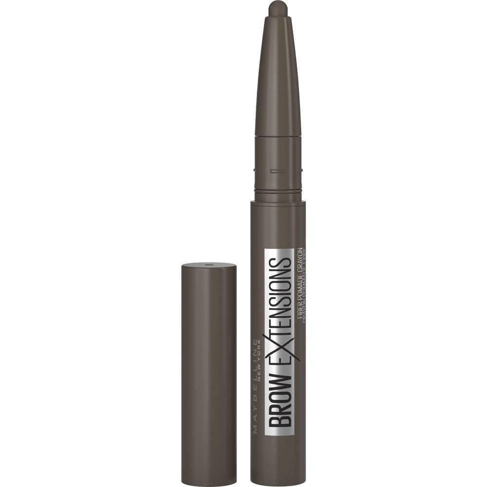 Maybelline Brow Extensions Fiber Pomade Crayon Eyebrow Makeup Black Brown 0 014oz