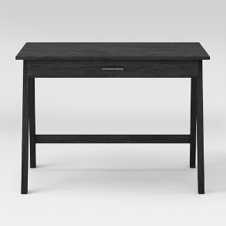 Paulo Wood Writing Desk with Drawer Weathered Smoke - Project 62™