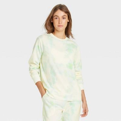 Women's Tie-Dye Beautifully Soft Fleece Lounge Sweatshirt - Stars Above™