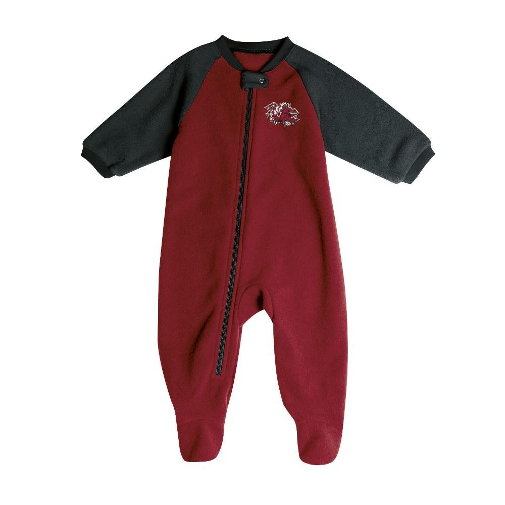 South Carolina Gamecocks Baby Boys' Long Sleeve Blanket Sleeper - 3-6M, Multicolored