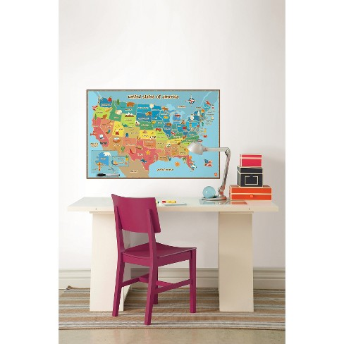 Kids Usa Map.Wallpops Kids Usa Map Target