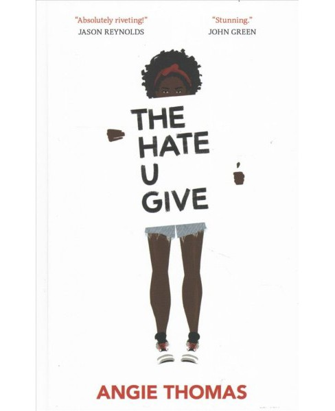 Hate U Give -  Large Print by Angie Thomas (Hardcover) - image 1 of 1