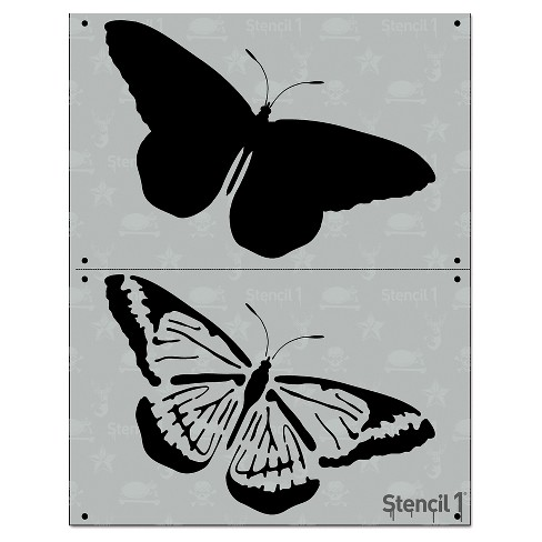"""Stencil1 Butterfly - Layered Stencil 8.5"""" x 11"""" - image 1 of 4"""