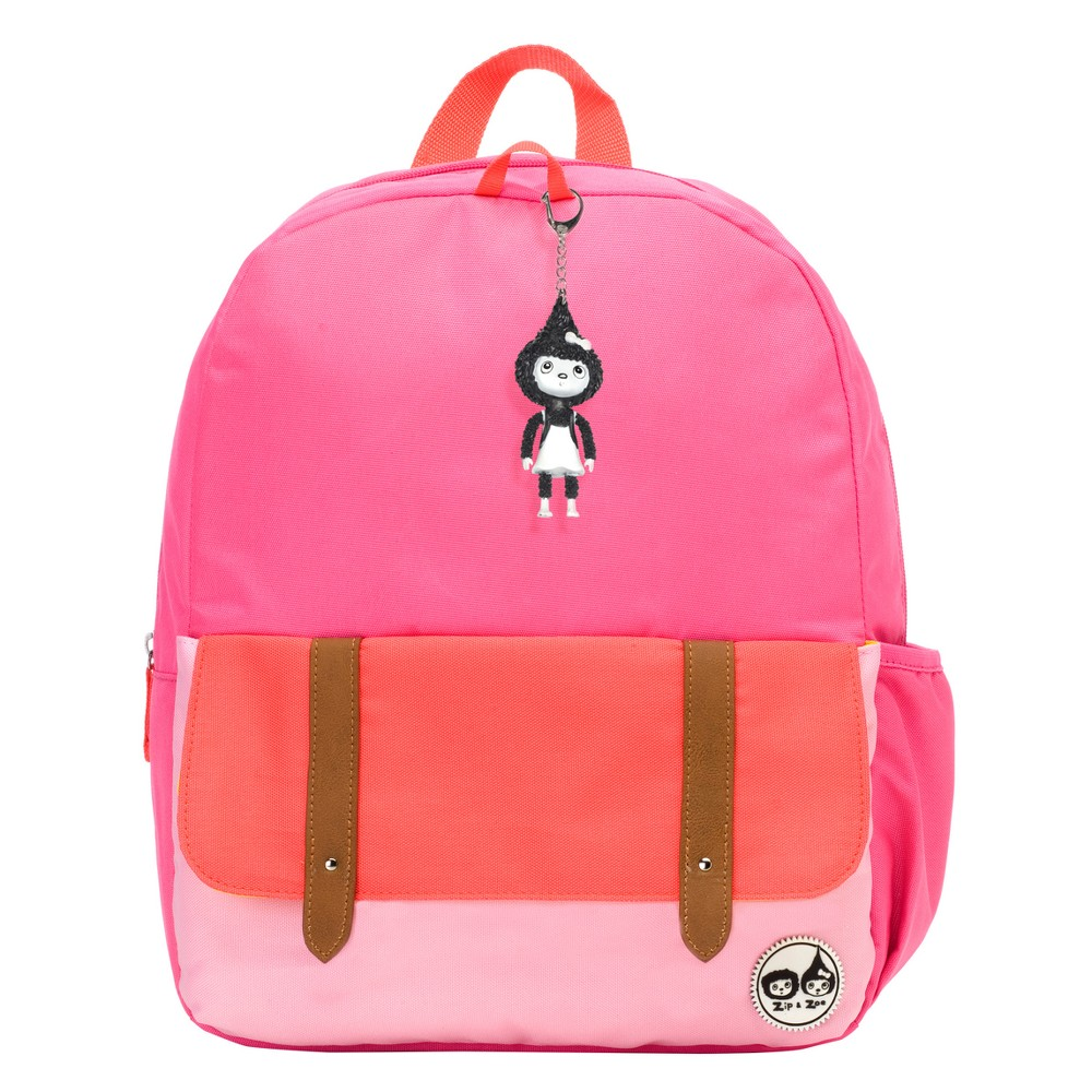 "Image of ""Zip & Zoe Junior 15"""" Kids' Backpack - Pink Color Block, Kids Unisex, Size: Small"""
