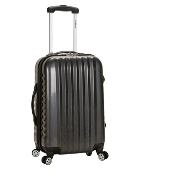Rockland Melbourne Expandable ABS 20  Carry On Suitcase - Carbon