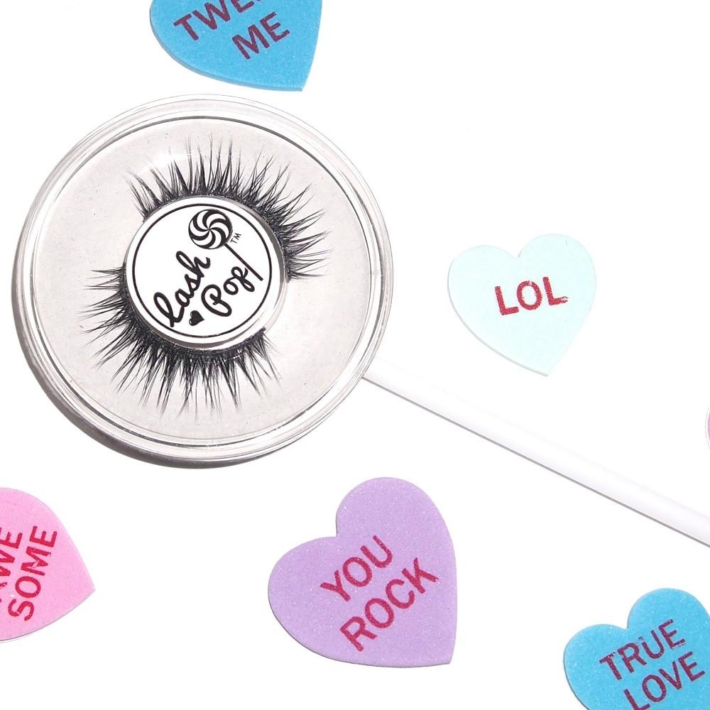 Lash Pop Lashes False Eyelashes Light Grey - 1ct, Light Off-White
