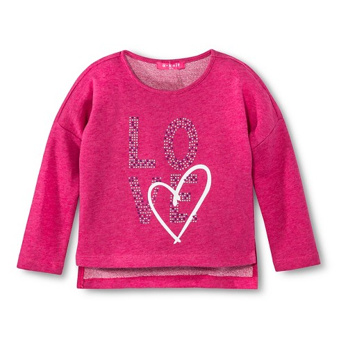 Toddler Girls' U-Knit Sweatshirt - Pink 4T - image 1 of 1