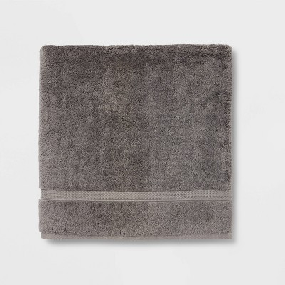 Soft Solid Bath Sheet Dark Gray - Opalhouse™