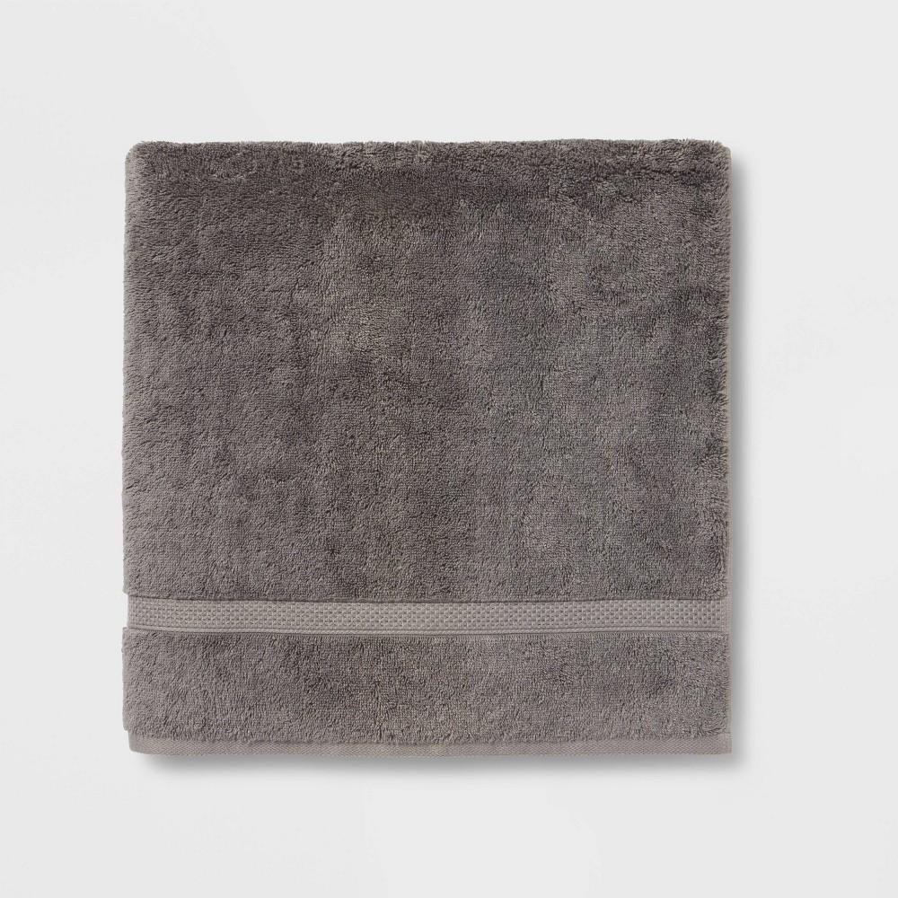 Perfectly Soft Solid Bath Sheet Dark Gray Opalhouse 8482