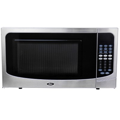 Oster 1.6 Cubic Ft. 1000 Watt Countertop Microwave Oven in Silver