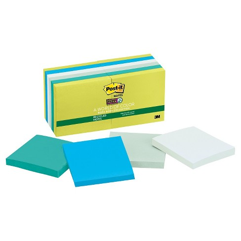 Post - it Super Sticky Pads 3 x 3 - Multi-Colored (90 Sheet Pads Per Pack) - image 1 of 1
