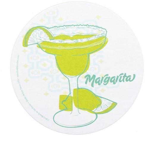 Crowded Coop, LLC Single Retro Cork Drink Coaster - Margarita - image 1 of 1