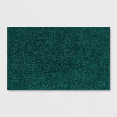 Soft Solid Bath Mat Dark Green - Opalhouse™