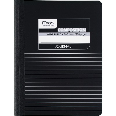"""Mead Composition Book Special Ruled 9-3/4""""x7-1/2"""" Black Marble 09920"""