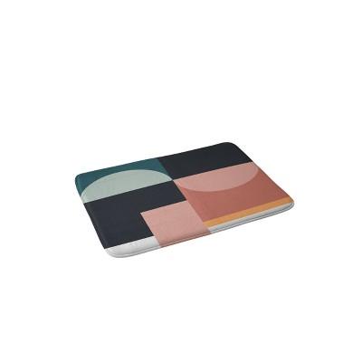 The Old Art Studio Abstract Geometric Memory Foam Bath Mat - Deny Designs