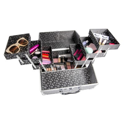 Caboodles Lovestruck 6-Tray Train Case Black Diamond