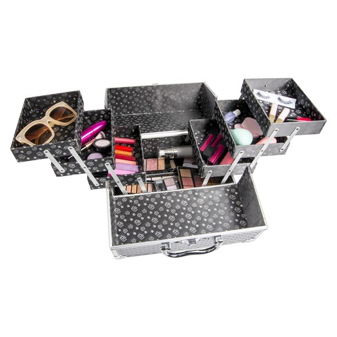 Caboodles Lovestruck 6-Tray Train Case Black Diamond - image 1 of 4