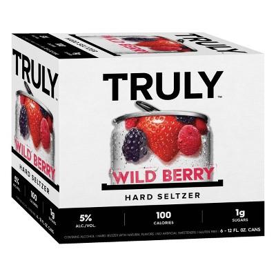 Truly Wild Berry Hard Seltzer - 6pk/12 fl oz Slim Cans