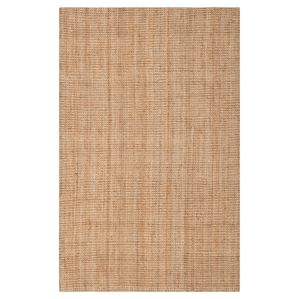Natural Solid Woven Area Rug 5 X8 Safavieh