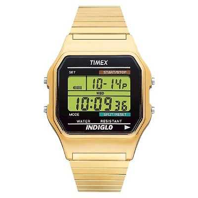 Men's Timex Classic Digital Expansion Band Watch - Gold T786779J
