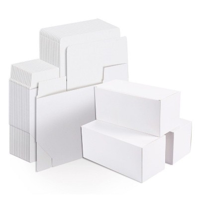 20 White Gift Boxes Rectangle Paper Container for Party Wedding Favor 9x4.5x4.5