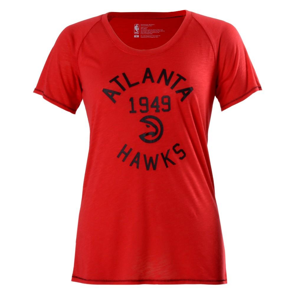 Atlanta Hawks Women's Phys Ed Scoop Neck Slub T-Shirt S, Multicolored