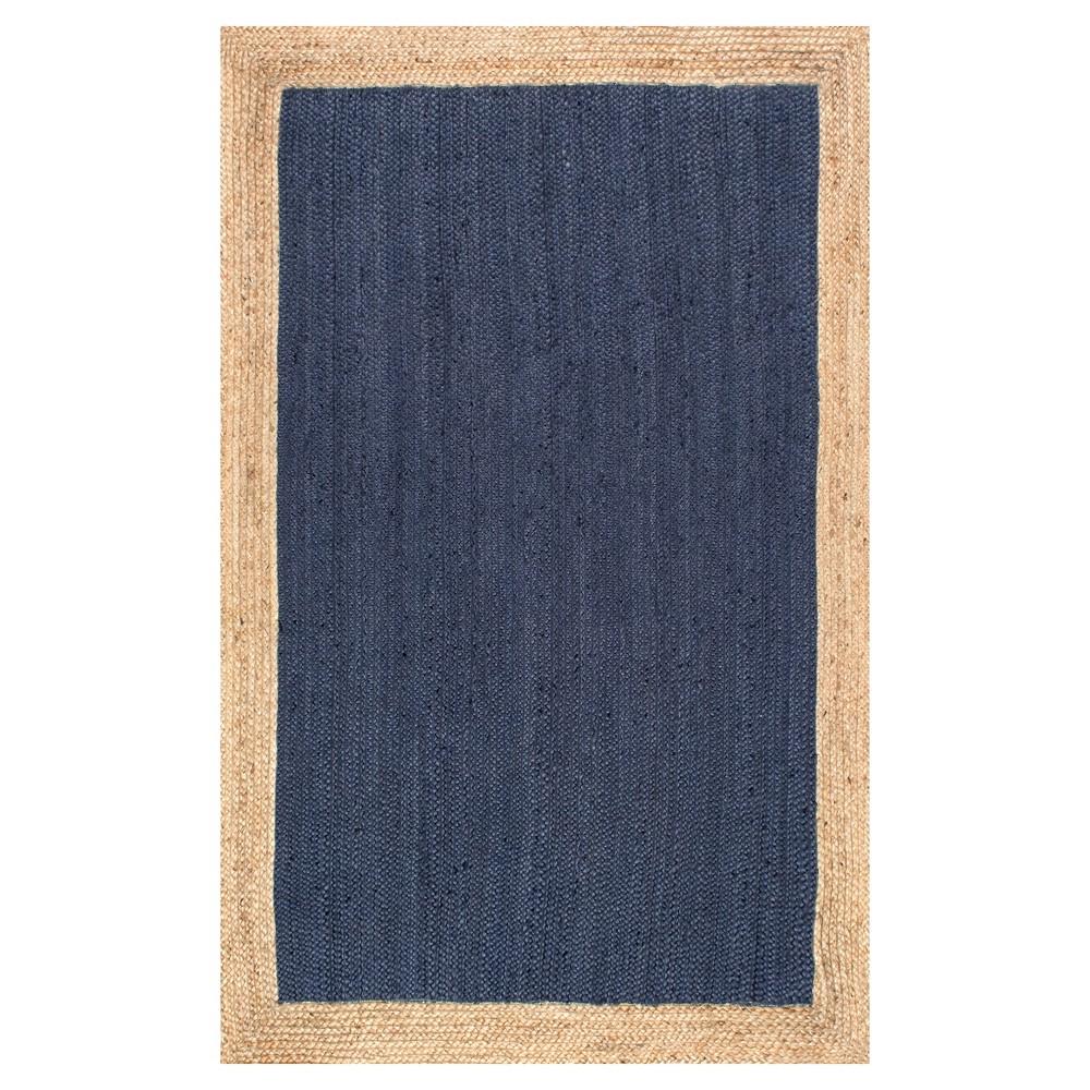Blue Solid Loomed Area Rug - (3'x5') - nuLOOM