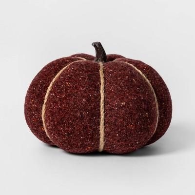Knit Burgundy Pumpkin Halloween Decoration Medium - Spritz™