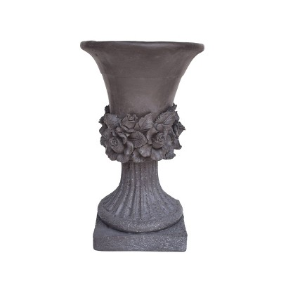 "19.5"" Calliope Lightweight Concrete Patio Urn Planter Gray - Christopher Knight Home"