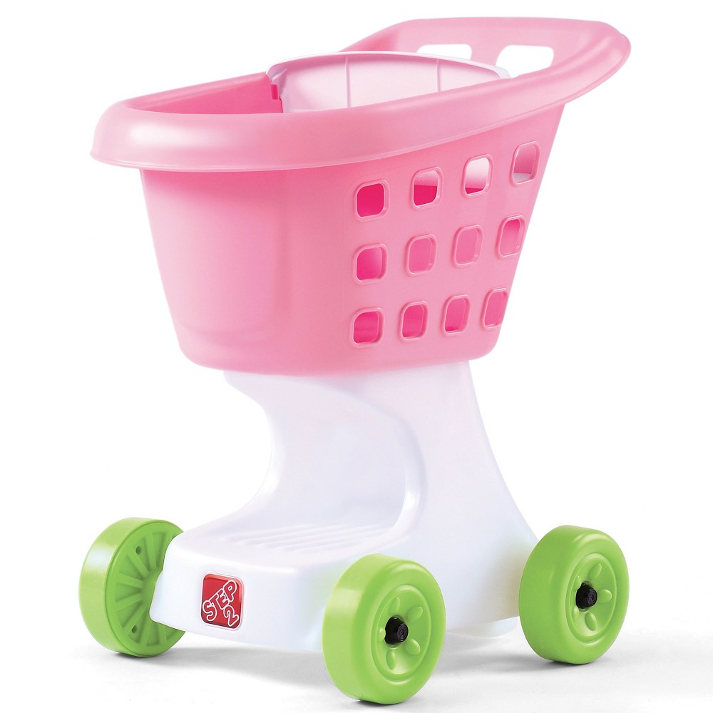 Step2 Little Helper's Shopping Cart - Pink The Little Helper's Shopping Cart is an easy to push kids shopping cart that holds loads of toys and play food! Kids can pretend to go shopping on their own and enhance their gross motor skills as they roll their cart around the house. Let the shopping fun begin with this durable pretend play toy. Made in USA of US and imported parts. Adult assembly required. Gender: Female.