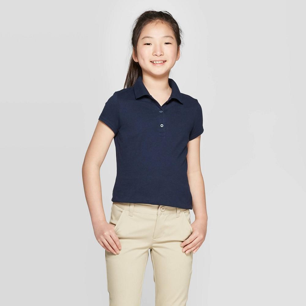 Girls 39 Short Sleeve Jersey Uniform Polo Shirt Cat 38 Jack 8482 Navy Xl