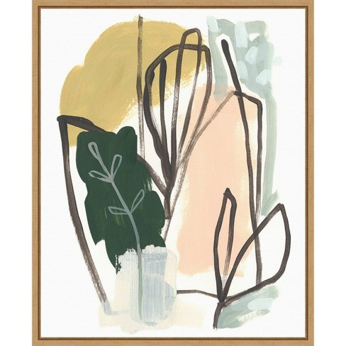 16 X 20 Tropical Abstract I By June Erica Vess Framed Canvas Wall Art Amanti Art Target