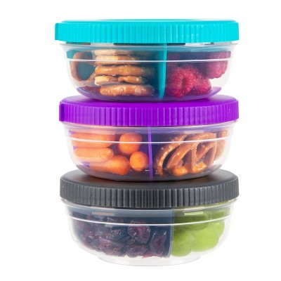 SnapLock Snack Stack Food Storage Container - Clear - 3pk